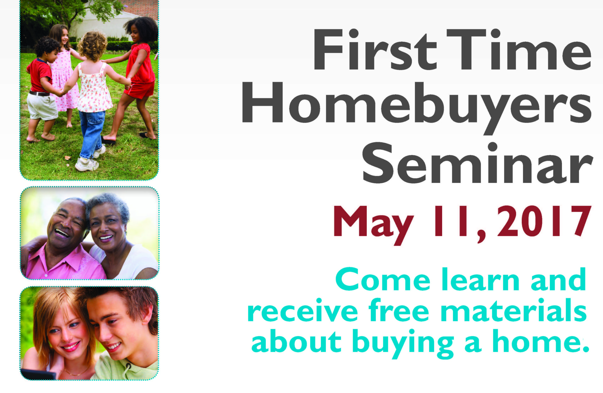 May 1st Time Home Buying Seminar
